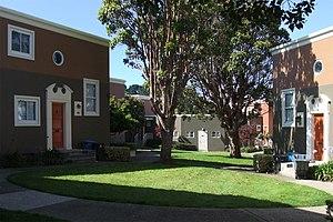 Parkmerced, San Francisco - One of Parkmerced's numerous unique courtyards