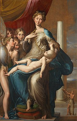 22. parmigianino madonna with the long neck 1534-40 oil on panel