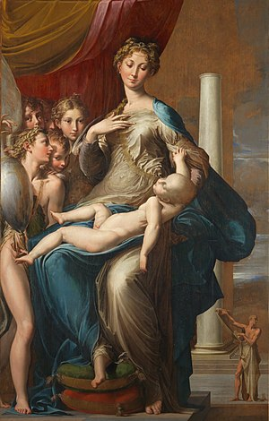 Madonna with the Long Neck - Image: Parmigianino Madonna dal collo lungo Google Art Project