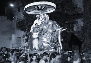 Parthasarathy Temple, Triplicane - Parthasarathy Perumal Yaanai Vahanam