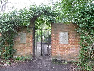 King George's Fields - Entrance to the King George's Fields in Monken Hadley