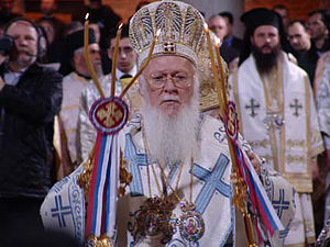 Bartholomew I of Constantinople - Bartholomew celebrating the Divine Liturgy.