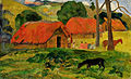 PaulGauguin-1892-Dog in front of a Hut Tahiti.jpg