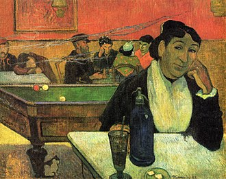 Carom billiards - This painting by Gauguin includes a depiction of French billiards