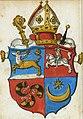 Pavał Halšanski, Pahonia. Павал Гальшанскі, Пагоня (1555).jpg
