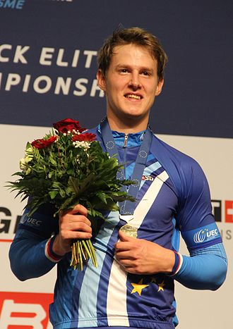 2015 UEC European Track Championships - Pavel Kelemen, one of the gold medal winners