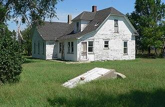 "My Ántonia - Pavelka house in rural Webster County, Nebraska, setting of ""Cuzak's Boys"""