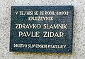 Pavle Zidar here-was-born plaque.jpg