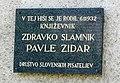 Pavle Zidar here-was-born plaque.jpg