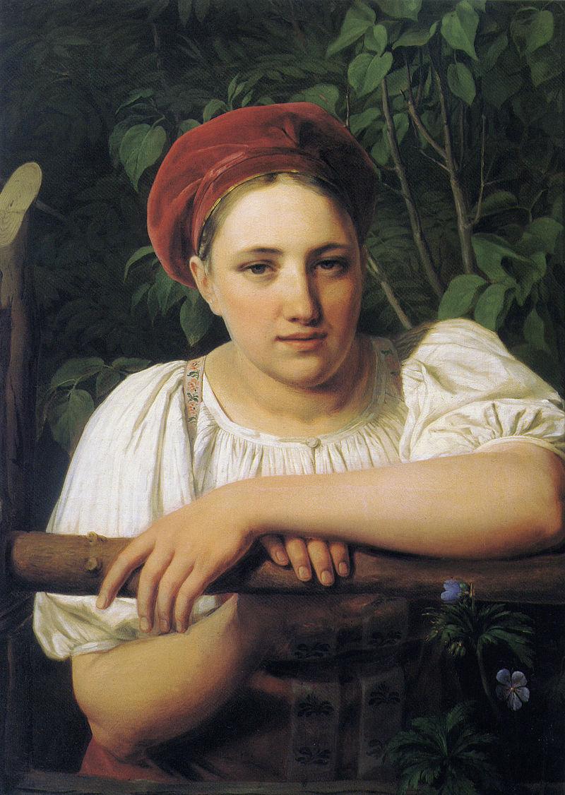 Peasant girl from Tver by Venetsianov.jpeg