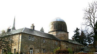 Penicuik House - Penicuik House stable block, with domed dovecote; a replica of Arthur's O'on.