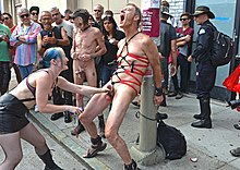 Exposed and humiliated naked gay males in public photos
