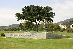 Pepperdine University Malibu Canyon Entrance Gate.JPG
