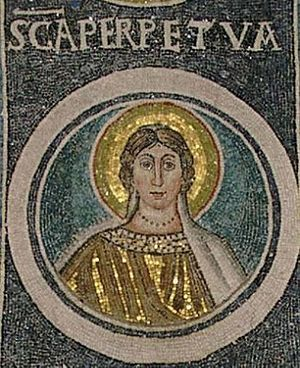 Passion of Saint Perpetua, Saint Felicitas, and their Companions - Mosaic of Saint Perpetua, Croatia.