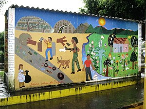 A mural in the town of Perquín