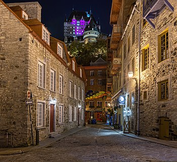 Petit Champlain at night, Quebec city