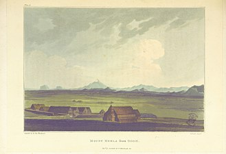"Orkneyinga saga - An early 19th century illustration of ""Mount Hekla from Odde"""
