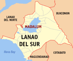Map of لاناؤ دل سور with Madalum highlighted