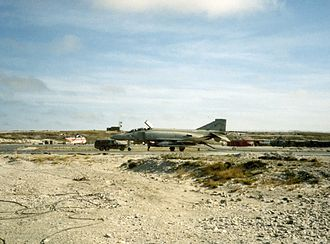 No. 23 Squadron RAF - A No. 23 Squadron Phantom at RAF Stanley in 1984