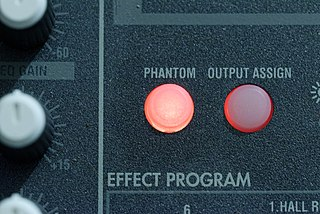 Phantom power DC power through microphone cables