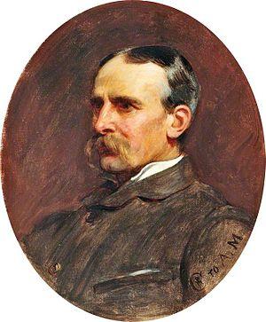 Briton Rivière - 1881 portrait by Philip Hermogenes Calderon