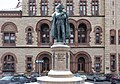 Philip Schuyler statue in winter.jpg