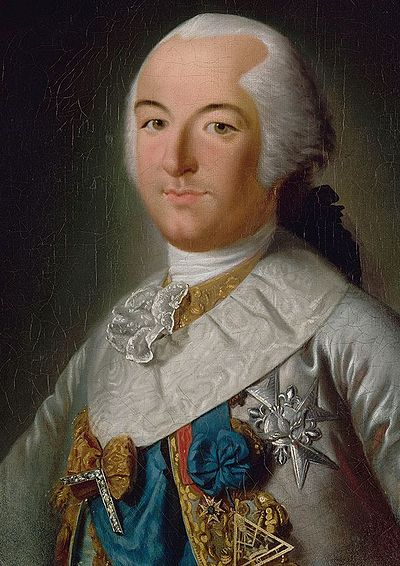 Louis Philippe d'Orleans with the insignia of the grand master of the Grand Orient de France, the governing body of French freemasonry. Philippe d'Orleans en grand-maitre du GOF.jpg