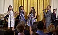 Phillipa Soo, Renée Elise Goldsberry, Jasmine Cephas-Jones and Leslie Odom Jr Hamilton White House 02.jpg
