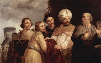 Elisha refusing the gifts of Naaman, by Pieter de Grebber (Frans Hals Museum, Haarlem).