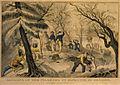 Pilgrims 1620 Plymouth Massachusetts byCurrier LC 3g03305u.jpg