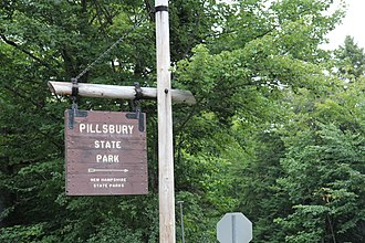 Pillsbury State Park - The sign for Pillsbury State Park