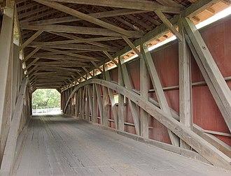 Pinetown Bushong's Mill Covered Bridge - Image: Pinetown Bushong's Mill Covered Bridge Inside HDR 2620px