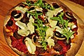 Pita bread, awesome sauce, sausage, mushrooms, brie and basil.jpg