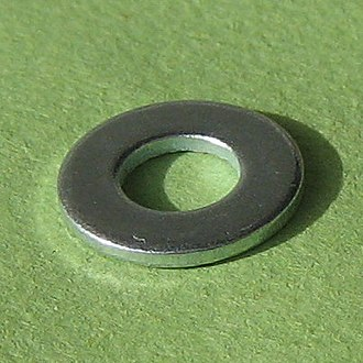 Washer (hardware) - Image: Plain washer 1