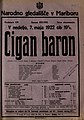 Plakat za predstavo Cigan baron v Narodnem gledališču v Mariboru 7. maja 1922.jpg
