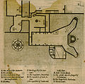 Plan of the Basilica of the Nativity in Bethlehem - Sandys George - 1615.jpg