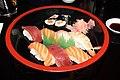 Plateau de sushis au restaurant japonais Au soleil levant de Colmar en 2013 1.jpg