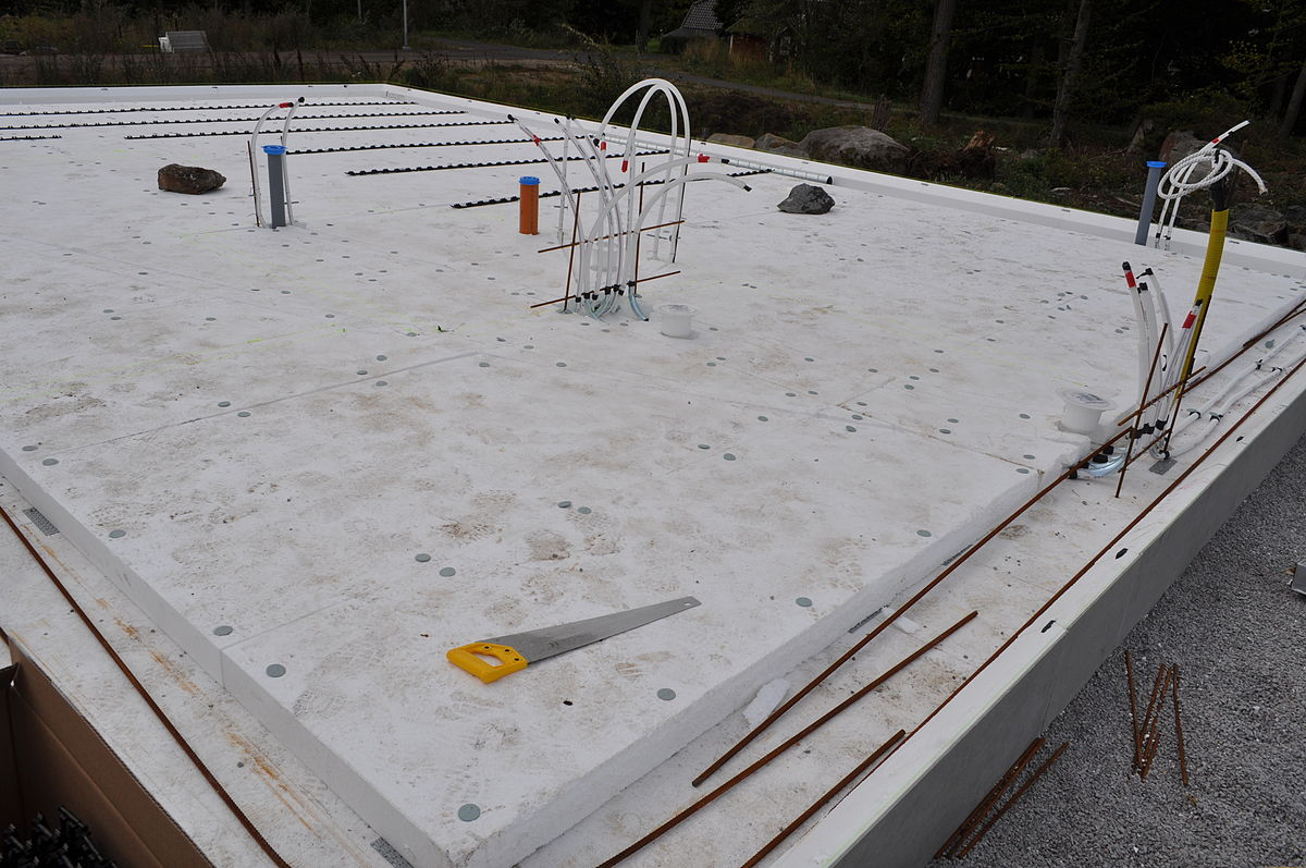 betong till garageplatta