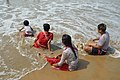 Playful Family with Sea Waves - New Digha Beach - East Midnapore 2015-05-03 9787.JPG
