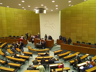 Landtag - Floor of the Lower Saxony Landtag in Hanover, 2007