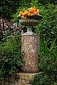 Plinth urn planter at Easton Lodge Gardens, Little Easton, Essex, England 05.jpg