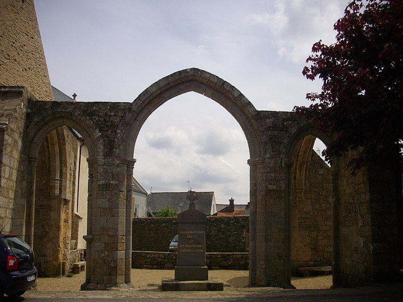Ruins of Our Lady of Nettles chapel in Pluvigner (Morbihan, France)