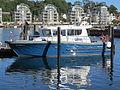 Polizeiboot Duburg, im Hintergrund Werftkontor, Bild 01.JPG