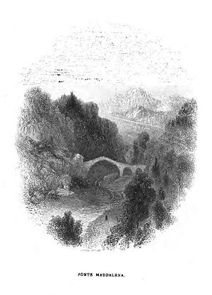John Orrin Smith - The Ponte della Maddalena, illustration from The Solace of Song by John Orrin Smith