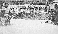 Ponte in legno di Cividate, prima della costruzione di quello in pietra nel 1833