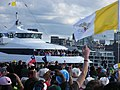 Pope arriving to Barangaroo, WYD 2008.jpg