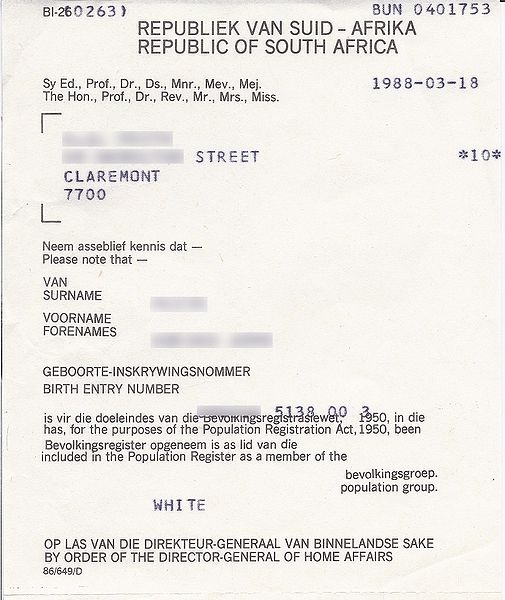 File:Population registration certificate South Africa 1988.jpg