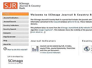 SCImago Journal Rank measure of scientific influence of scholarly journals