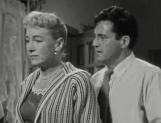 Edward Binns - Virginia Gregg and Edward Binns in Portland Exposé (1957)
