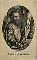 Portrait of Andreas Vesalius (1514 - 1564), Flemish anatomist Wellcome V0006029.jpg